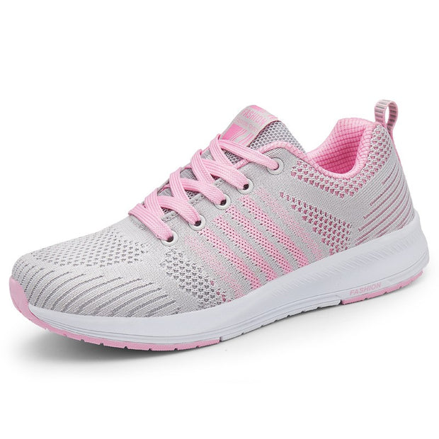Women's fashion breathable platform running sneakers