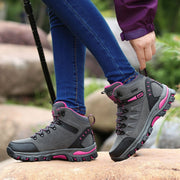 Women's retro fashion high top hiking sneakers