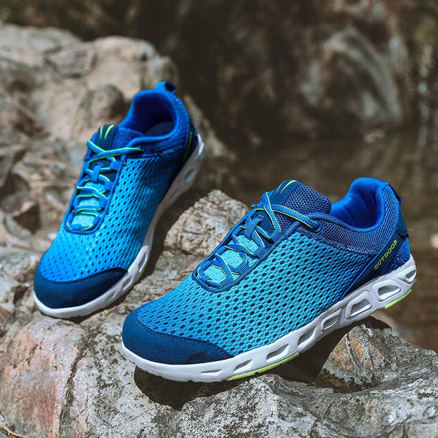 Man's fashion berathable cushion outdoor hiking sneakers
