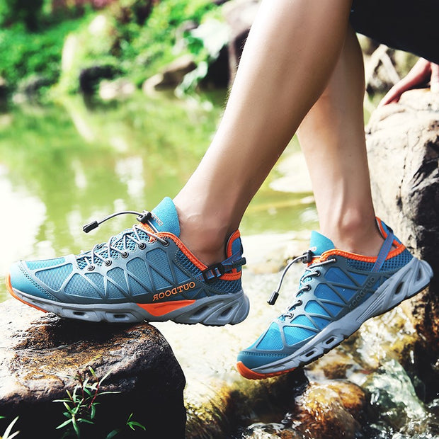 Women's breathable anti-skid stable outdoor hiking sneakers