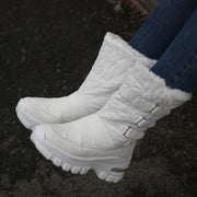 Women's winter thermal plush non-slip platform boots