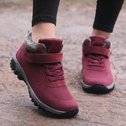 Women's villi suede thermal non-slip fashion platform sneakers