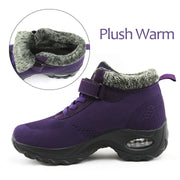 Women's winter thermal plush fashion joker velcro boots