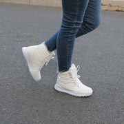 Women's autumn winter thermal plush hiking high top shoes