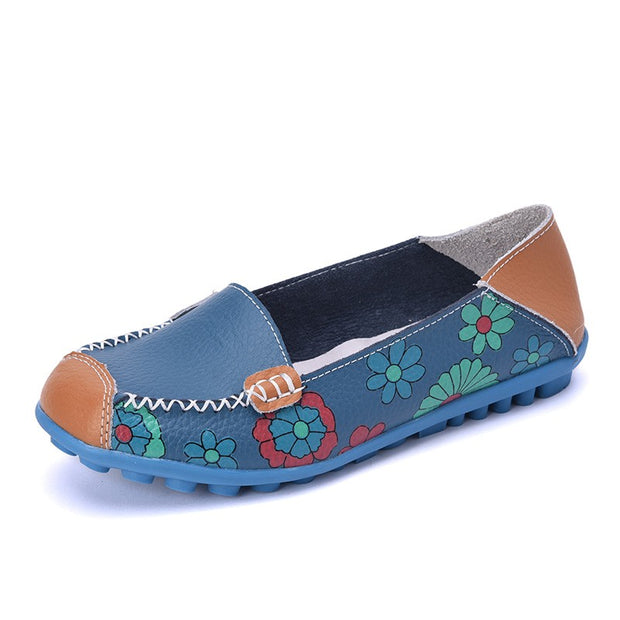 womens leather flats