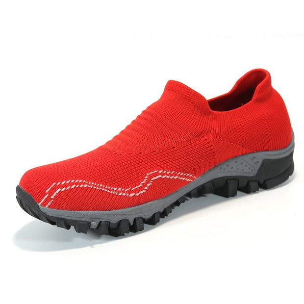 womens red flat shoes