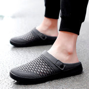 men's fashion joker summer breathable slip-on flat slippers