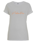 Adventure (Orange) - Ladies Rolled Sleeve T-shirt (Organic)