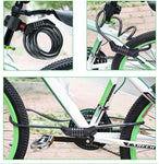 Combination Bicycle Chain Lock with 5-Digit Re-settable Number and Mounting Bracket