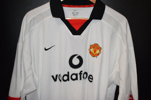 MANCHESTER UNITED 2002-2004 ORIGINAL AWAY JERSEY SIZE XL (GOOD)