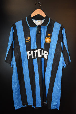 INTER MILAN 1991-1992 ORIGINAL JERSEY Size XL