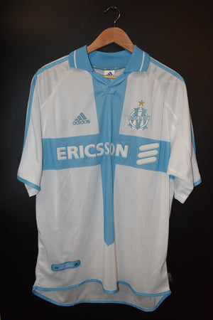 OLYMPIQUE MARSEILLE 2000-2001 ORIGINAL JERSEY SIZE L (VERY GOOD)