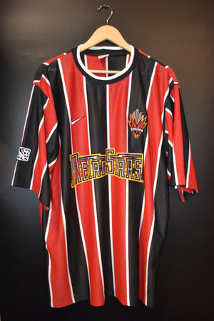 NEW YORK METROSTARS 1997 ORIGINAL HOME JERSEY Size XL (GOOD)