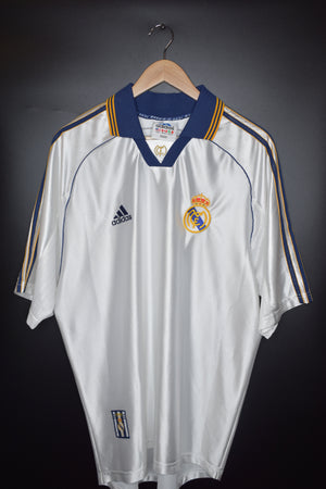 REAL MADRID 1997-1999  SEASON JERSEY Size L (EXCELLENT)