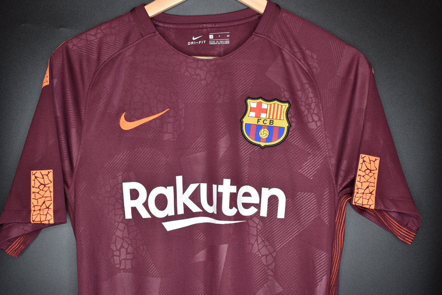 BARCELONA 2017-2018 OFFICIAL JERSEY SIZE SMALL  (VERY GOOD)