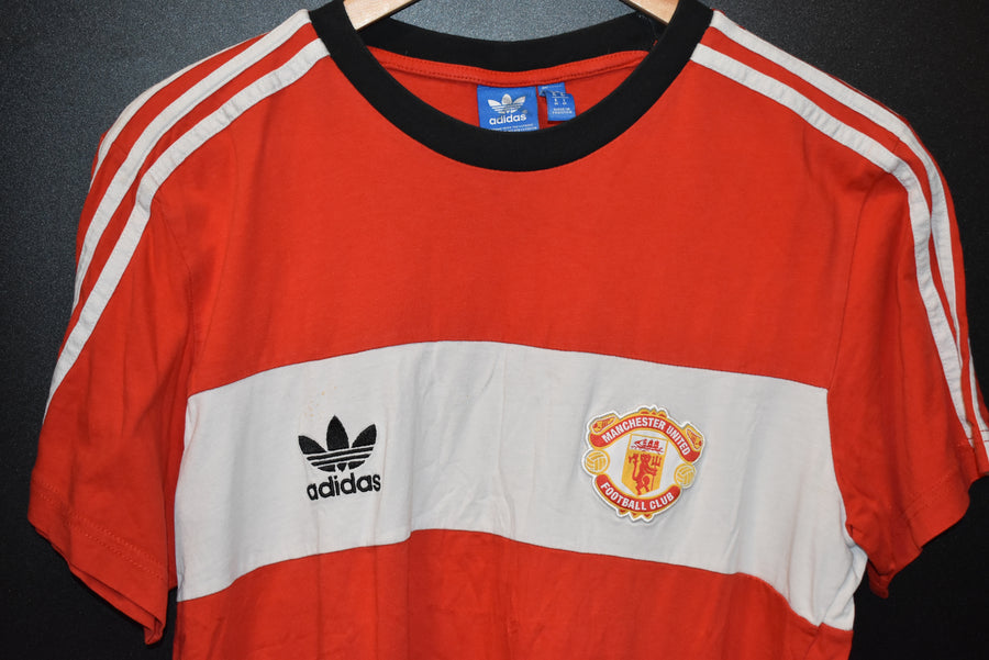 MANCHESTER UNITED ADIDAS ORIGINALS SHIRT Size M (VERY GOOD)
