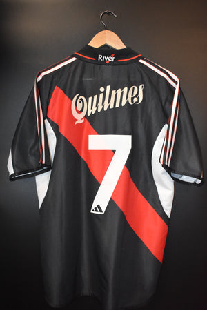 RIVER PLATE SAVIOLA 2001 ORIGINAL JERSEY Size M (Very good)