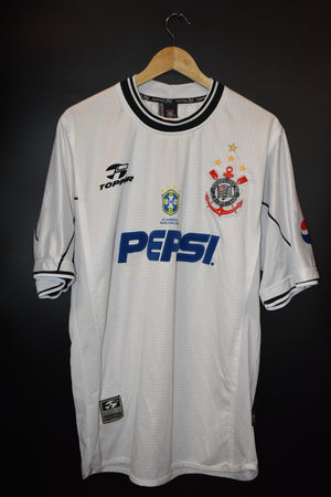 CORINTHIANS 1999 SILVINHO ORIGINAL JERSEY Size XL (VERY GOOD)