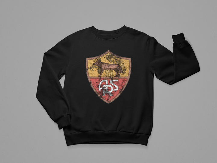 AS ROMA VINTAGE BADGE CREWNECK