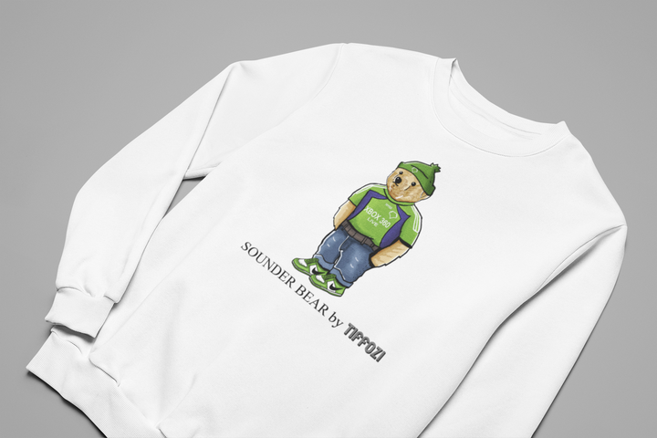 SEATTLE SOUNDERS BEAR BY TIFFOZI CREWNECK