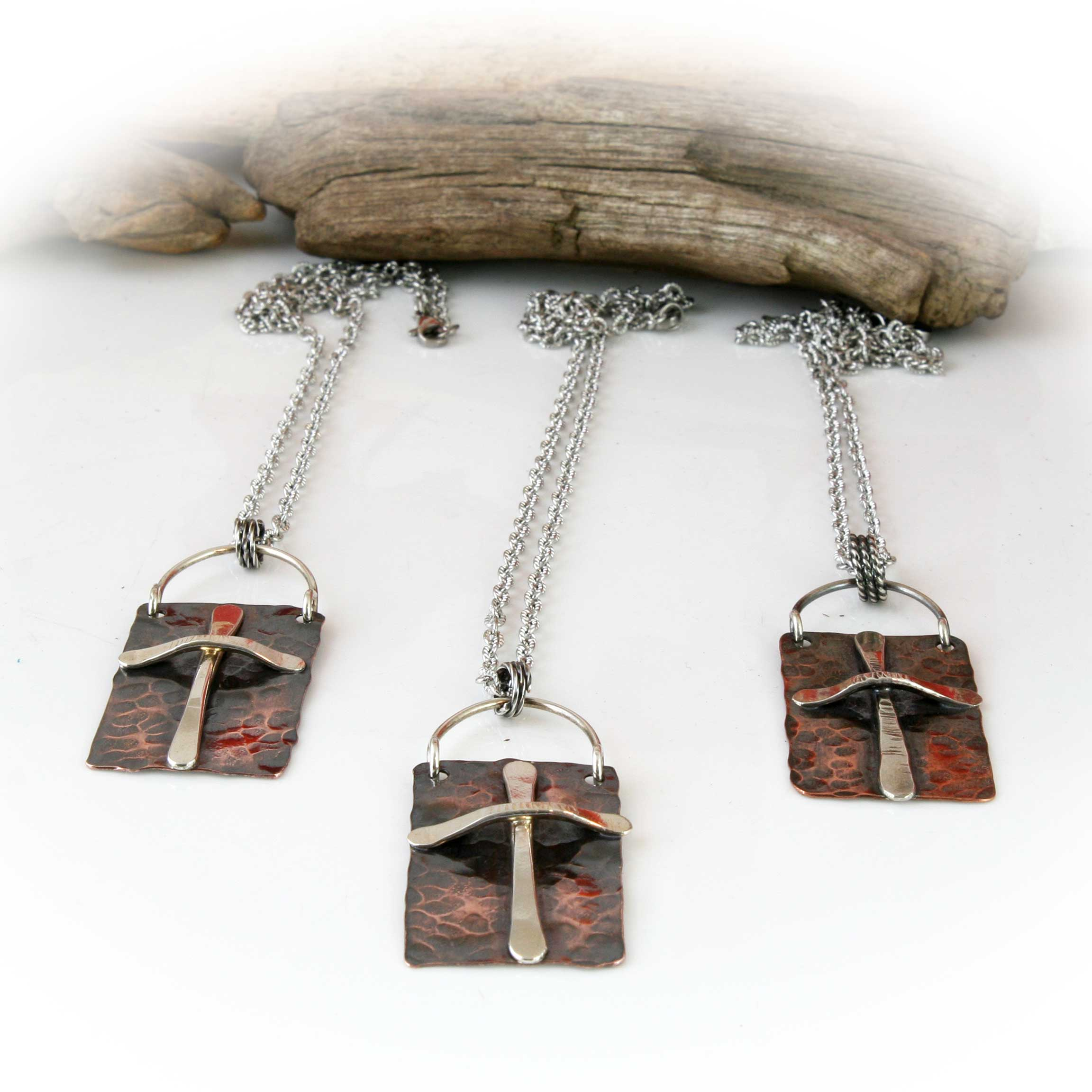 Santa Fe style  Necklace in Sterling Silver and Copper