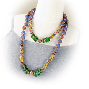 African Krobo Bead Necklace