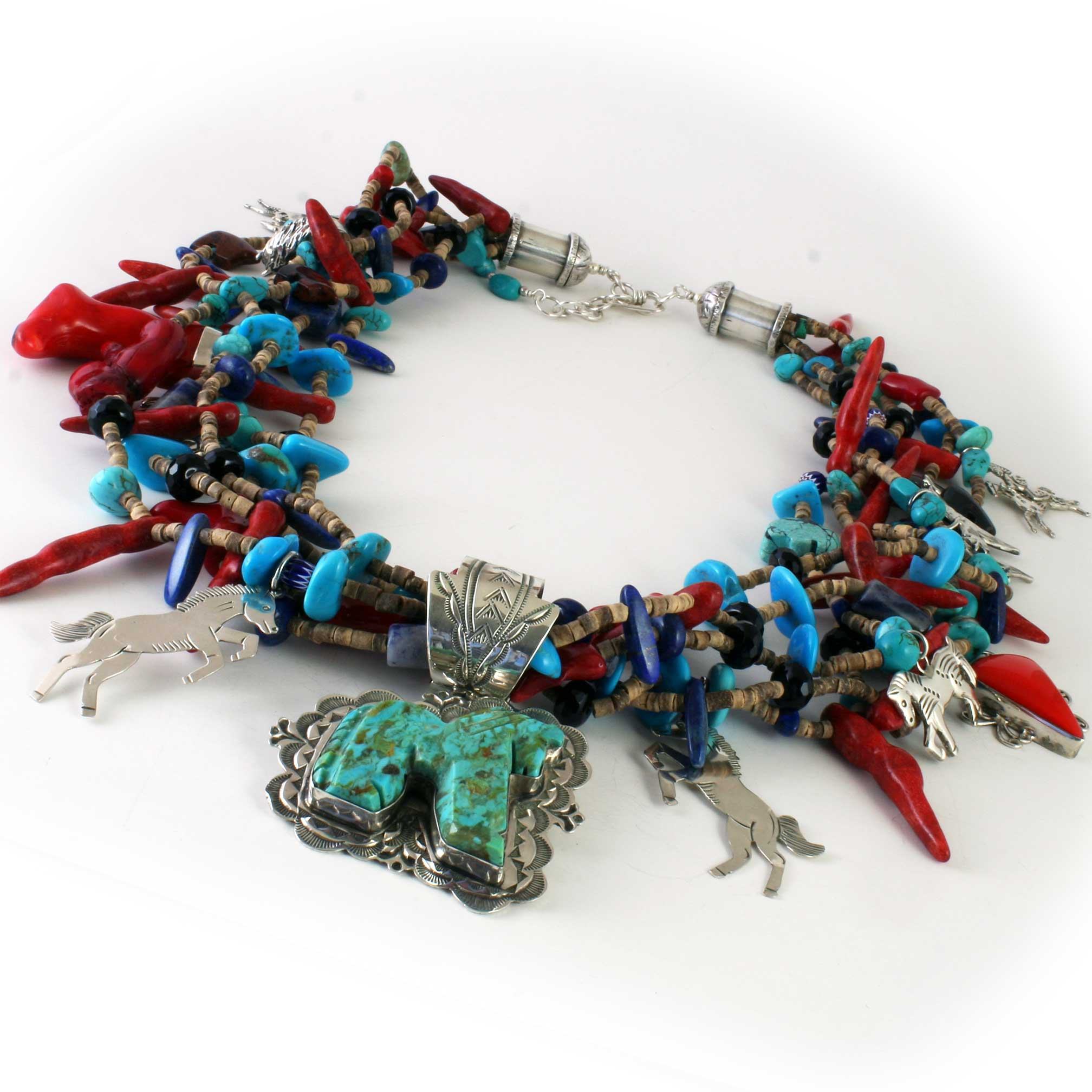 Vintage Native American Turquoise Horse in Sterling Silver