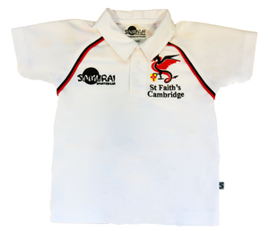 Crested White PE Polo