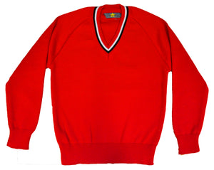 School Red Knitted Jumper