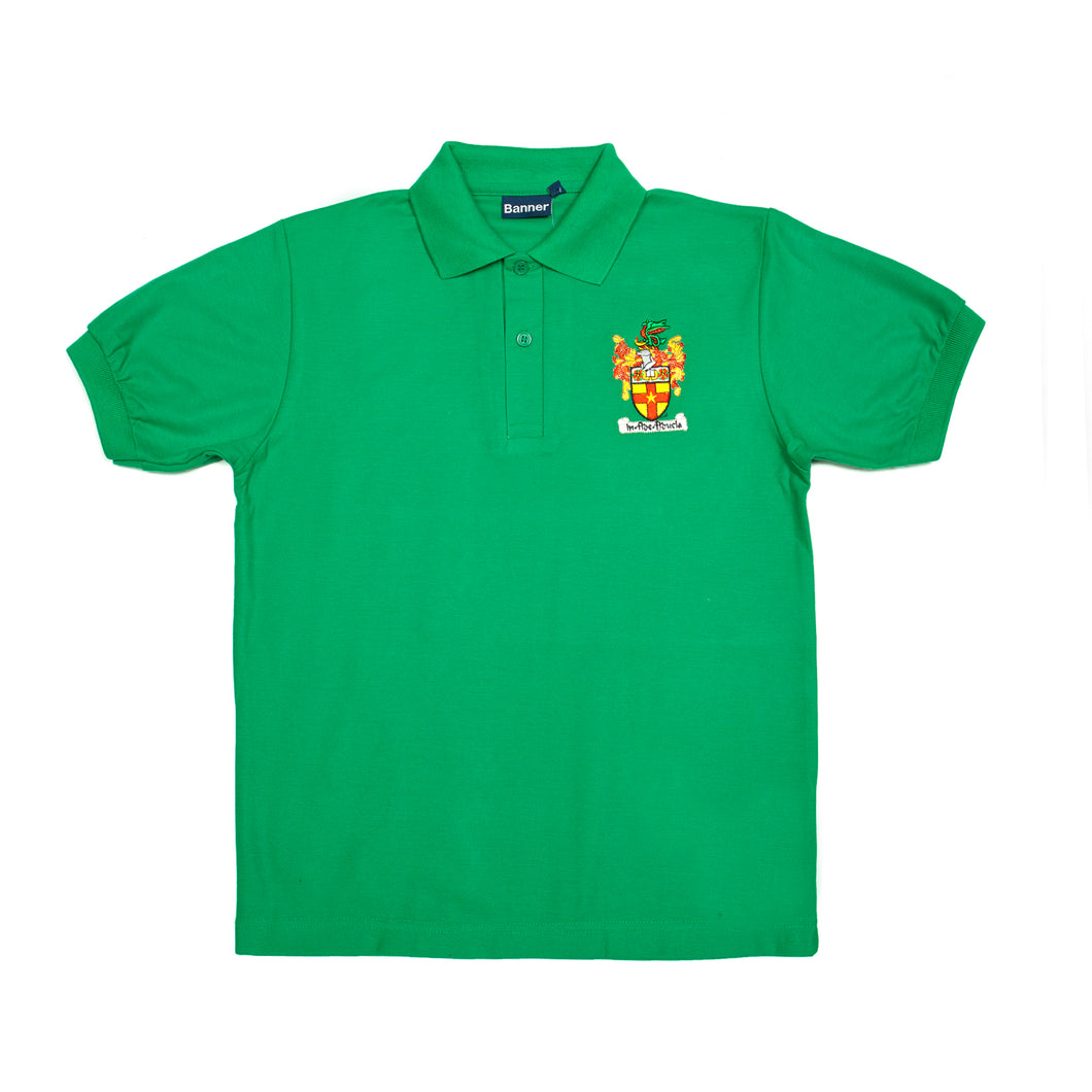Crested Chaucer polo (Emerald)