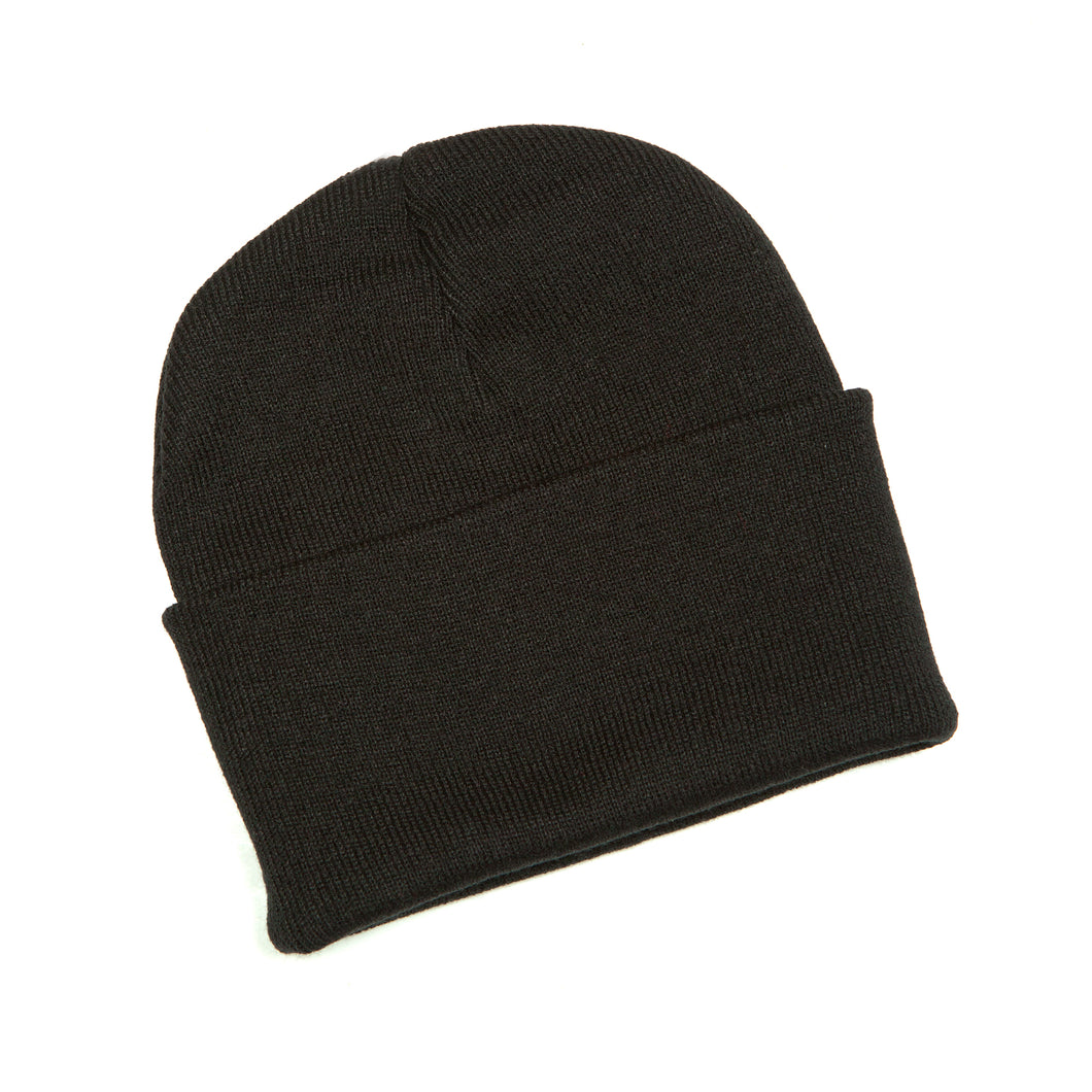 Black fleece hat