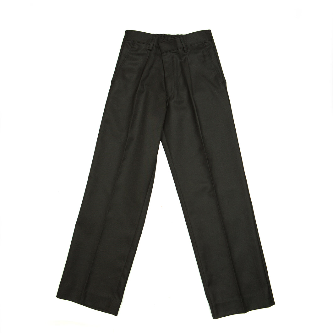 Long charcoal trousers