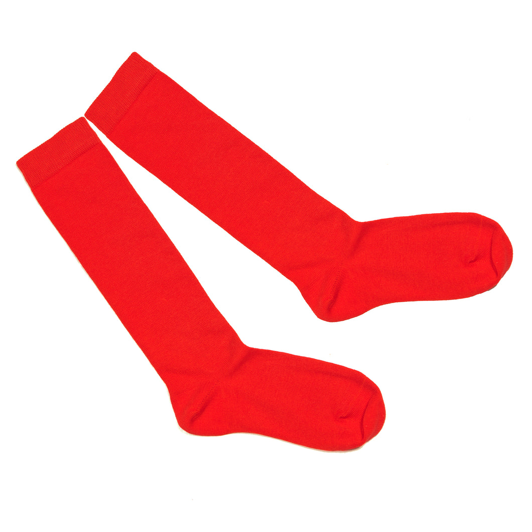 Red knee-length sock (Girls)