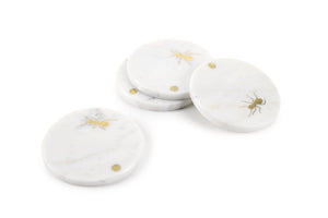 Ants walking on Carrara - set of coasters