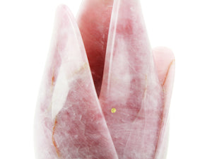 Sculptural vase Pieruga PV07 in Rose Quartz