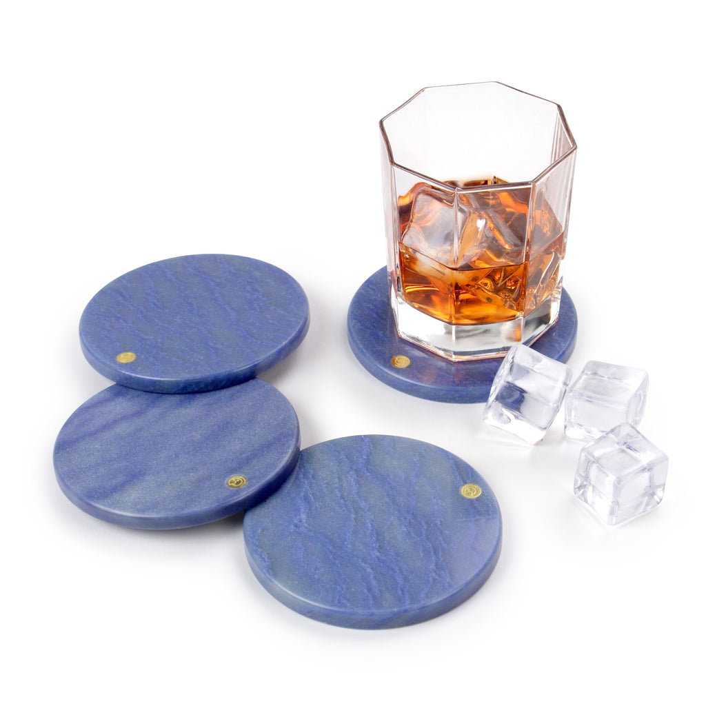 Set of coasters in Azul Macaubas