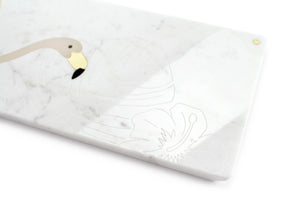 The Pink Flamingo - centerpiece/serving plate in marble