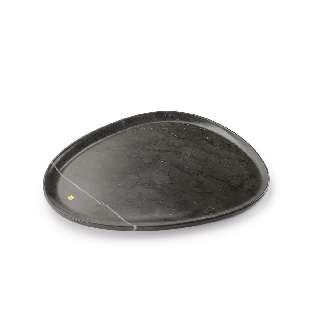 Medium size presentation plate in Pietra Grey