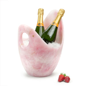 Luxurious Champagne bucket in Rose Quartz