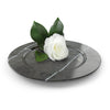 Charger plate in Imperial Grey marble