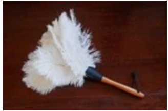 HIE Ostrich feather duster 350mm black or white