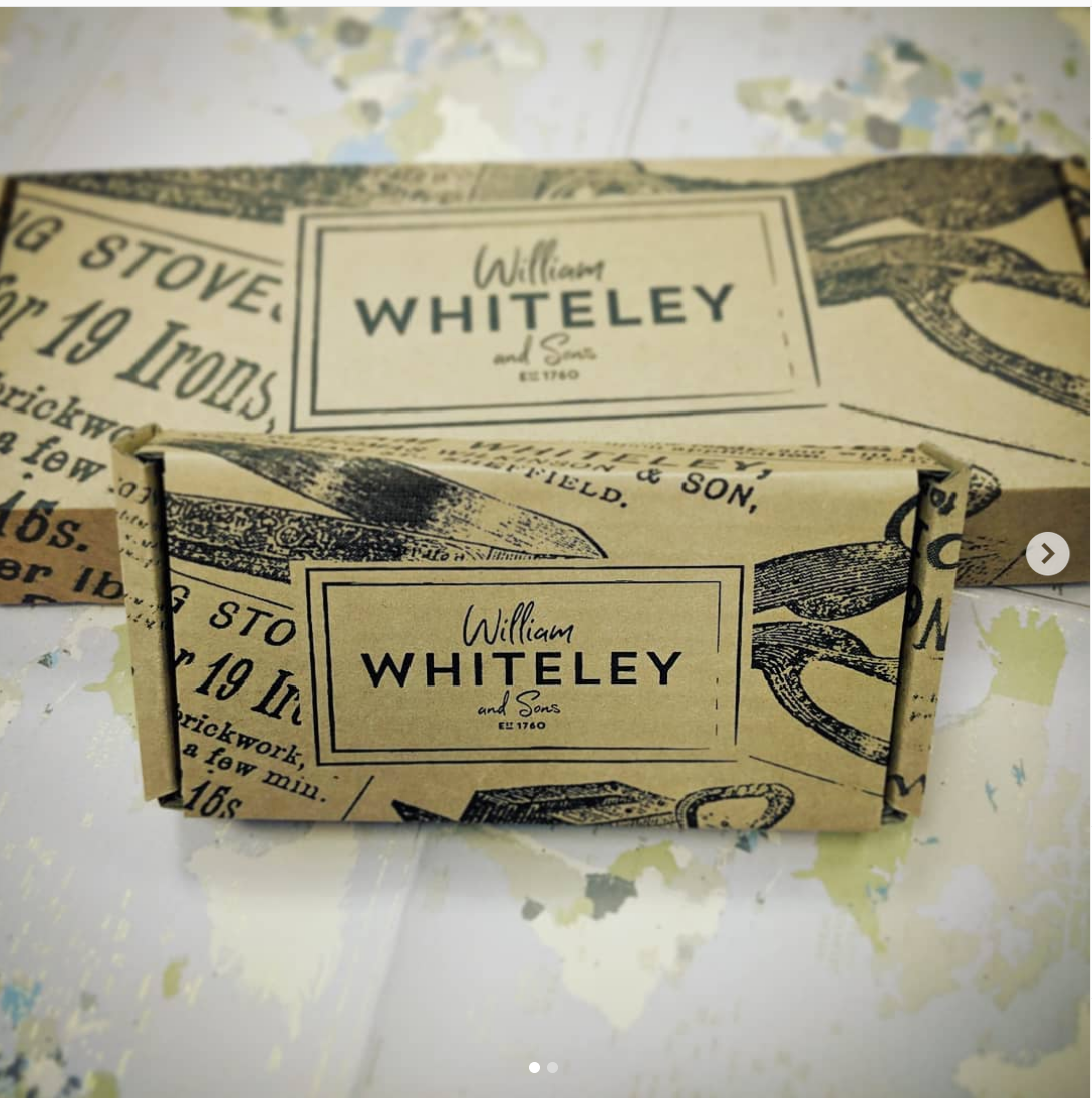 "HIE W. Whitely & Sons Sheffield UK 9"" black paper scissors"