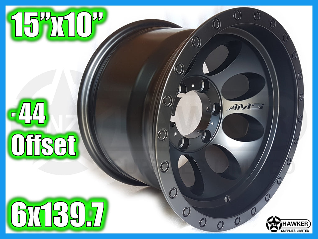 15x10 Neg44 ALLOYS 6x139.7 AMS - Set of 4  #14
