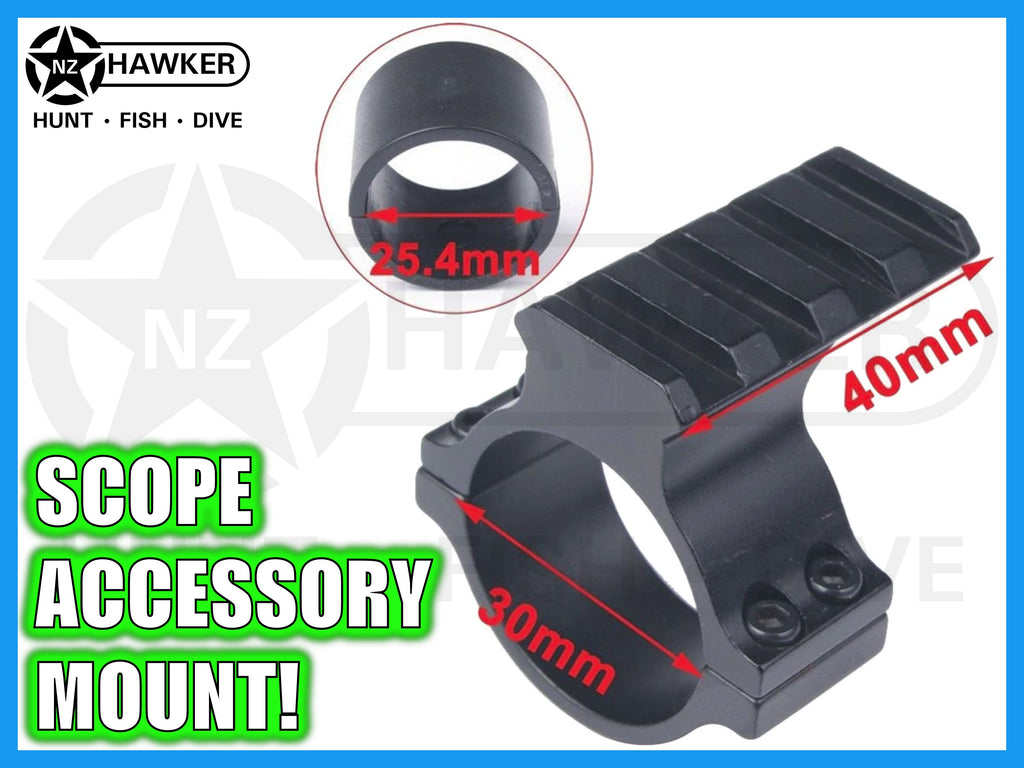 SCOPE ACCESSORY RAIL MOUNT 30mm W/25mm ADAPTER! #14