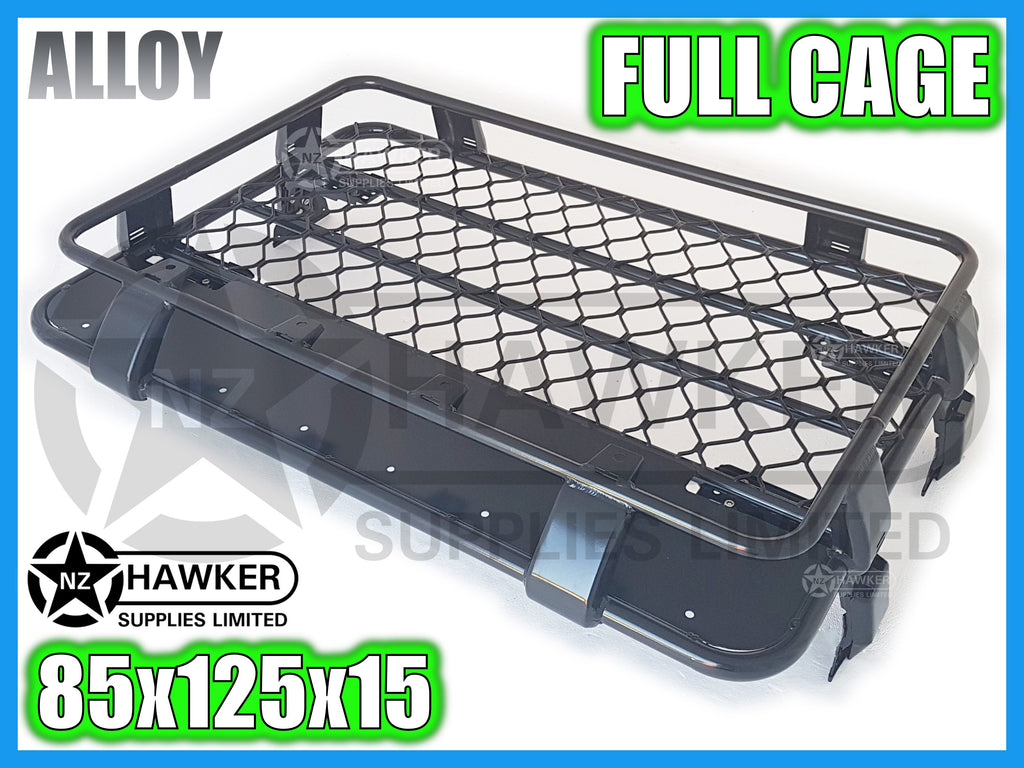 ROOF RACK CAGE TRAY 85cm x 125cm ALLOY incl 15cm UNIVERSAL GUTTER MOUNTS! #30