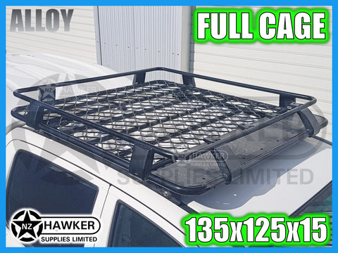 ROOF RACK CAGE TRAY 135cm x 125cm ALLOY suit TOYOTA HILUX 25 SERIES D/CAB #32