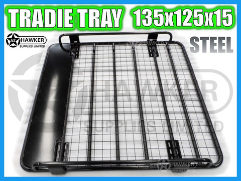 ROOF RACK TRADIE TRAY 135cm x 125cm STEEL suit TOYOTA HILUX 25 SERIES D/CAB #33