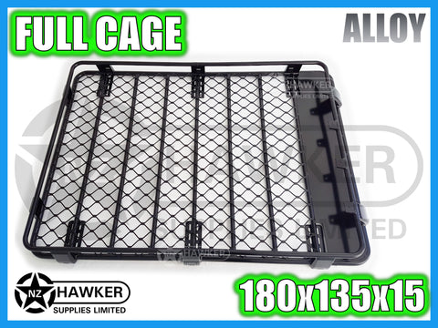ROOF RACK CAGE TRAY 180cm x 135cm ALLOY incl 15cm UNIVERSAL GUTTER MOUNTS! #39