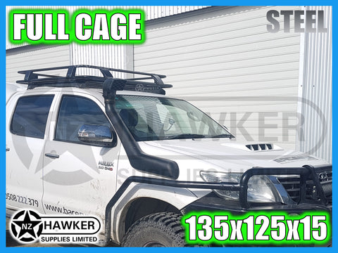 ROOF RACK CAGE TRAY 135cm x 125cm STEEL suit TOYOTA HILUX 25 SERIES D/CAB DC #76