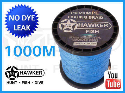 1000M HF FISHING BRAID CHOOSE COLOUR/POUNDAGE